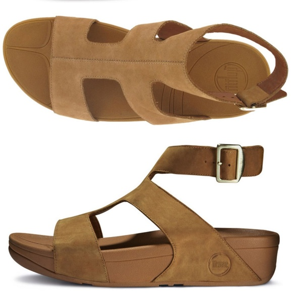 ac552f55f97ef Fitflop Shoes - Fitflop Women s Arena Tan Nubuck Sandals SZ 7